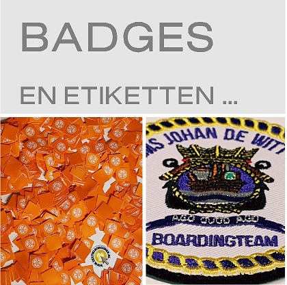 badges, labels en etiketten